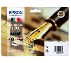 EPSON Pen & Crossword T1636 XL Cyan, Magenta, Yellow & Black Ink Cartridge - Multipack