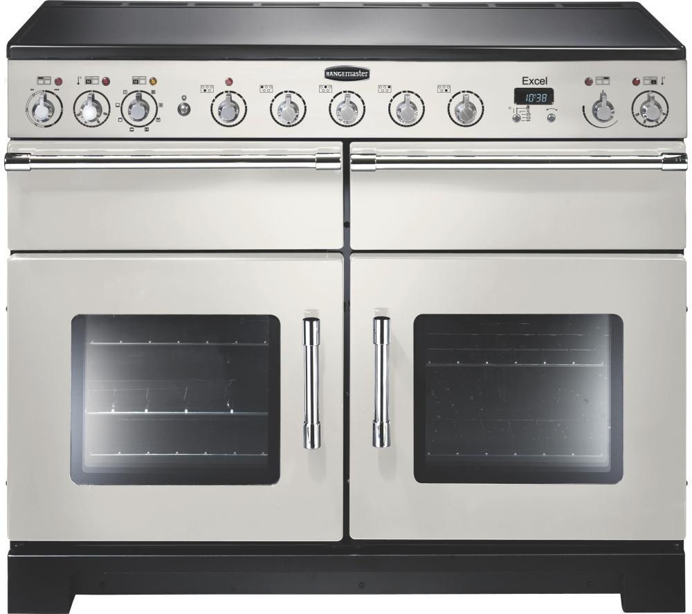 RANGEMASTER Excel 110 Electric Induction Range Cooker - Ivory & Chrome