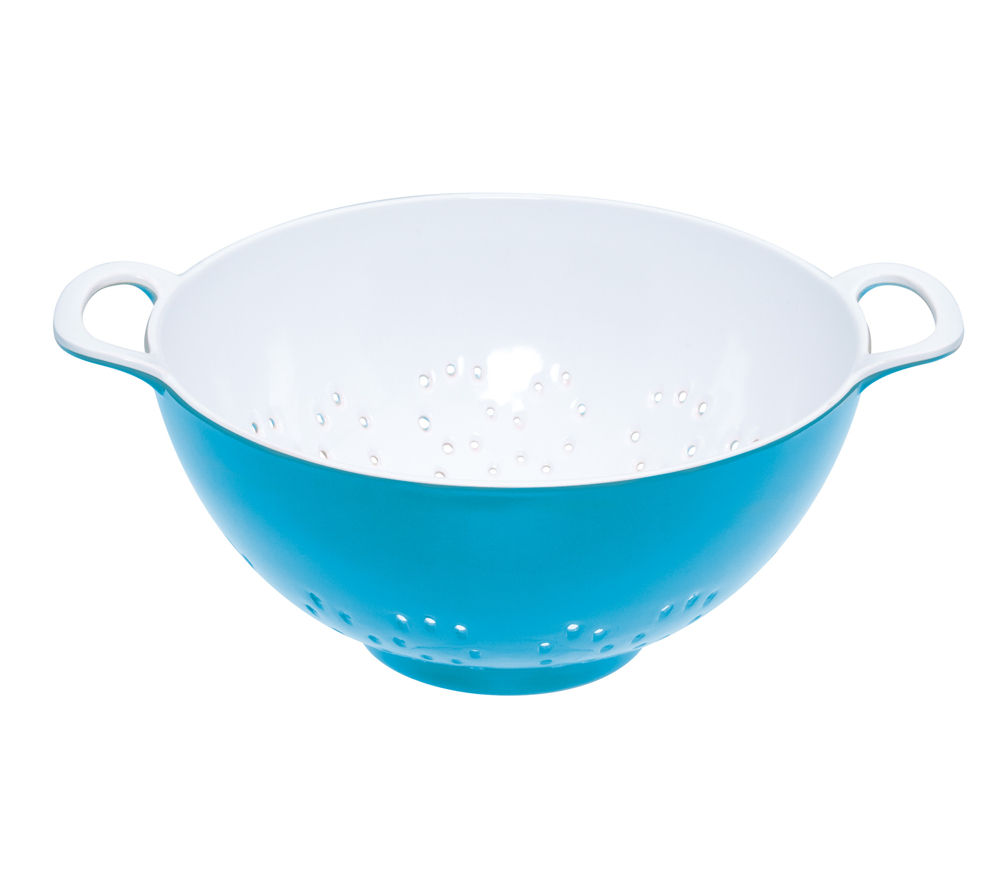 COLOURWORKS 700 ml Colander - Blue & White