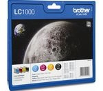 BROTHER LC1000 Cyan, Magenta, Yellow & Black Ink Cartridges - Multipack