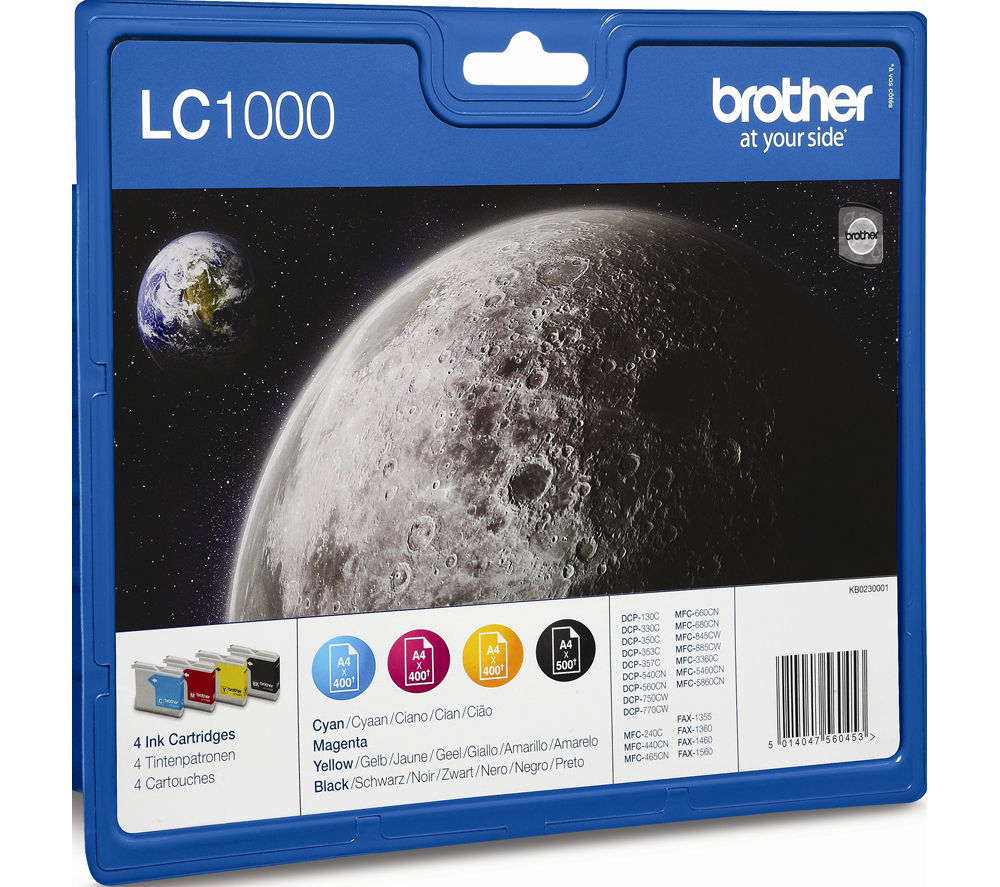 Buy BROTHER LC1000 Cyan Magenta Yellow Amp Black Ink