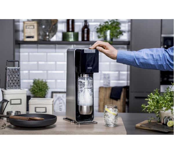 buy sodastream power automatic sparkling water maker black free delivery currys. Black Bedroom Furniture Sets. Home Design Ideas