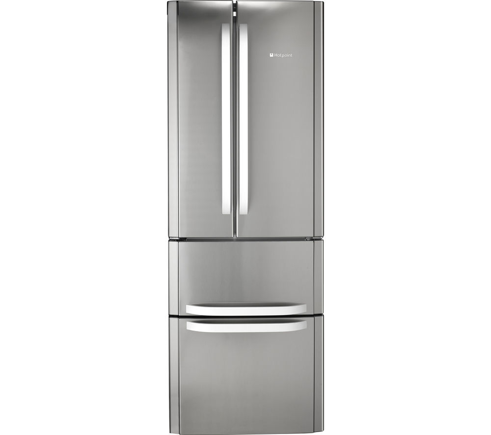 buy hotpoint day 1 ffu4dx american style fridge freezer stainless steel free delivery currys. Black Bedroom Furniture Sets. Home Design Ideas