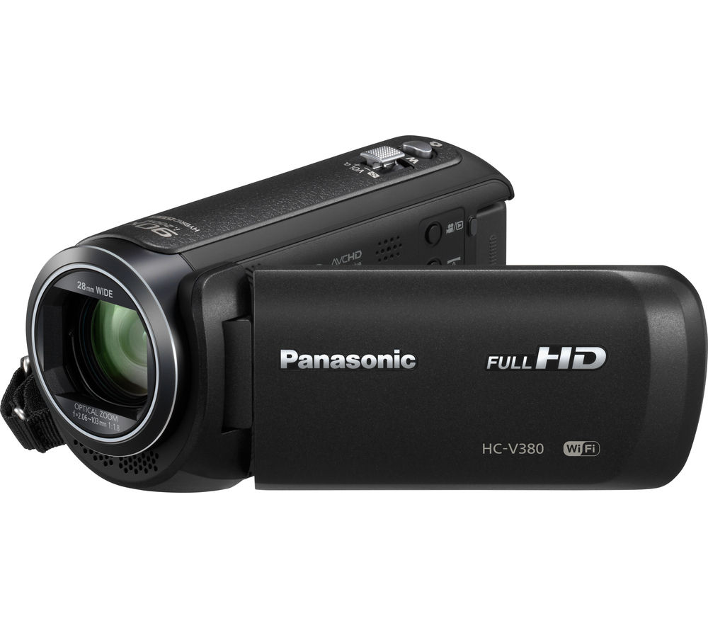 PANASONIC HC-V380EB-K Traditional Camcorder - Black + Adventura SH110 ll Camcorder Case - Black