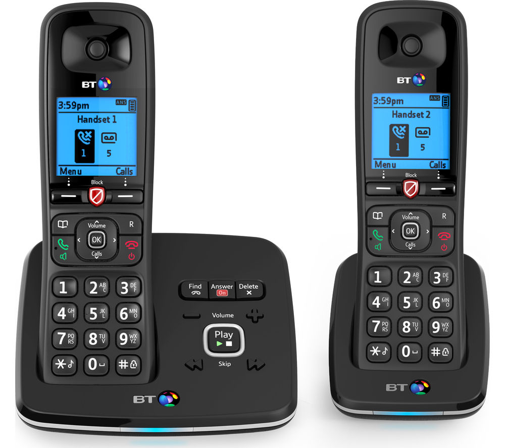 Image of BT 6610 Cordless Phone with Answering Machine - Twin Handsets