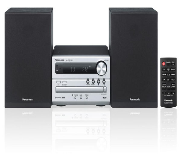 Image of PANASONIC SC-PM250BEBS Wireless Traditional Hi-Fi System - Silver