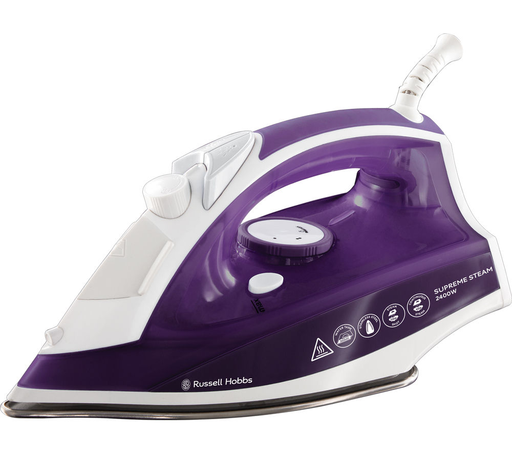 Image of RUSSELL HOBBS Supremesteam 23060 Steam Iron - Purple, Purple
