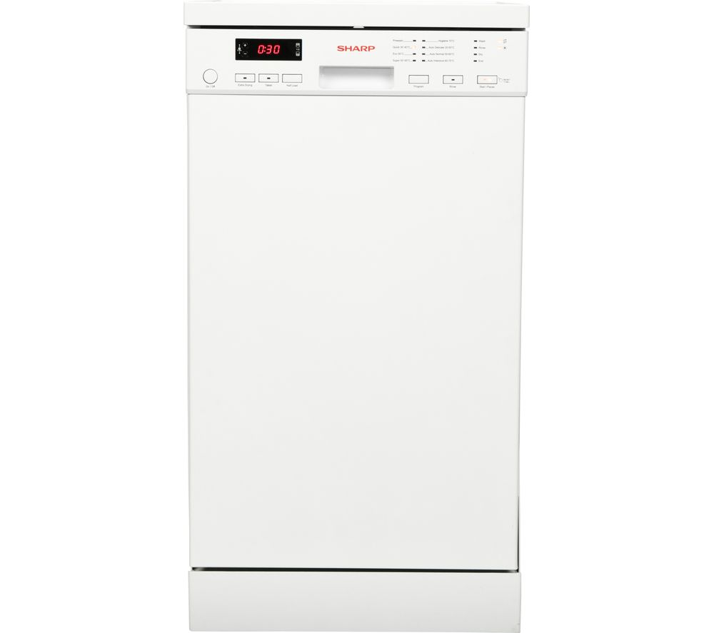 SHARP QW-S22F472W Slimline Dishwasher - White