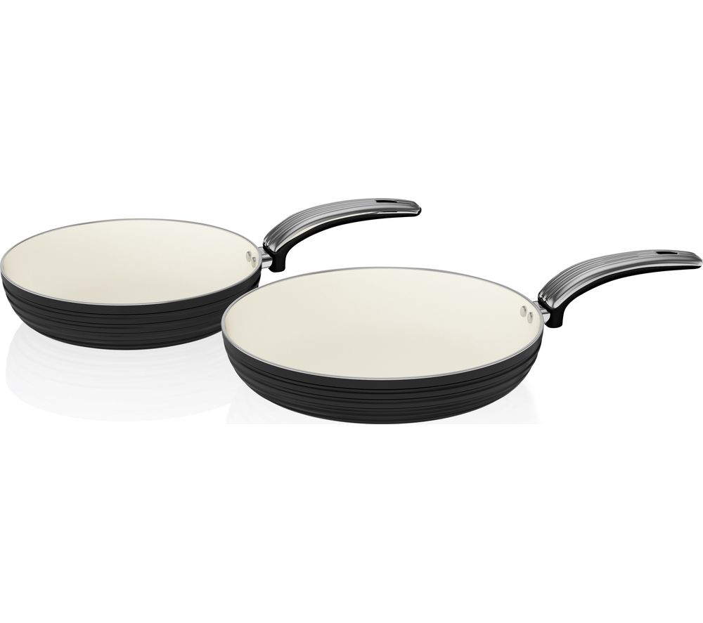 SWAN Retro 2-piece Non-stick Frying Pan Set - Black
