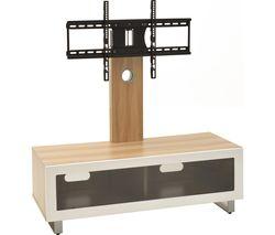 TVS1002 TV Stand with Bracket - Light Oak