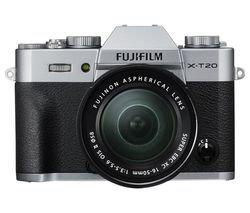 FUJIFILM X-T20 Mirrorless Camera with XC 16-50 mm f/3.5-5.6 OIS II Lens - Silver