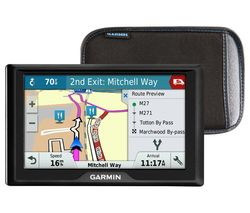 "Garmin Drive 50LM WE 5"" Sat Nav - UK & ROI & Western Europe Maps & Case"