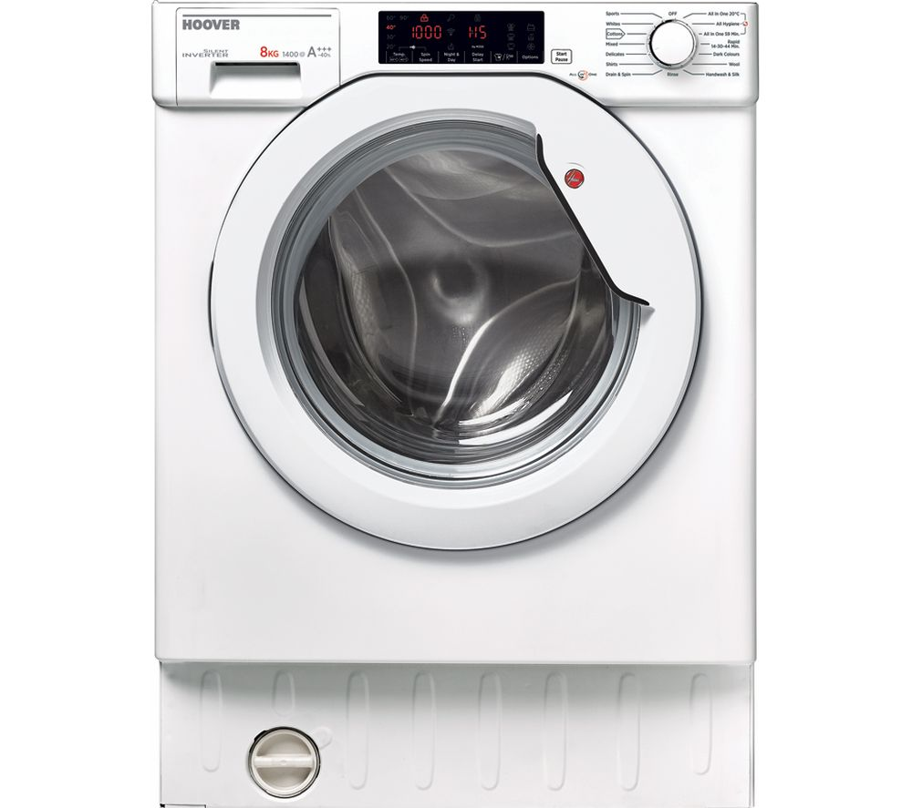 HOOVER HBWM 84TAHC-80 Integrated 8 kg 1400 Spin Washing Machine - White