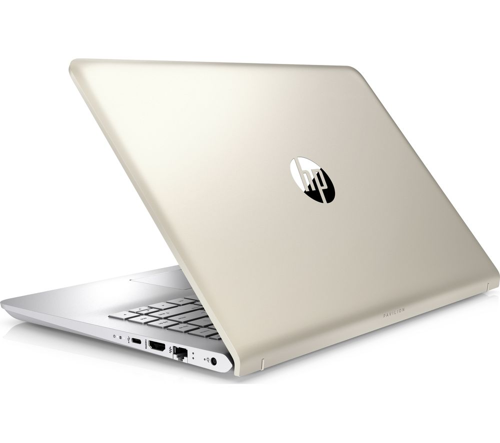 "HP Pavilion 14-bk064sa 14"" Laptop - Silk Gold + Office 365 Personal + LiveSafe Premium 2018 - 1 user / unlimited devices for 1 year"