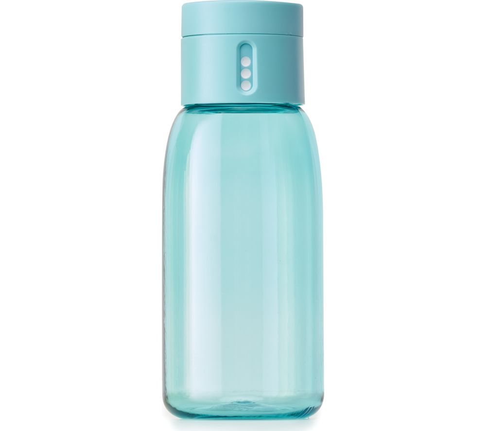 JOSEPH JOSEPH Dot Hydration Tracking 400 ml Water Bottle - Turquoise
