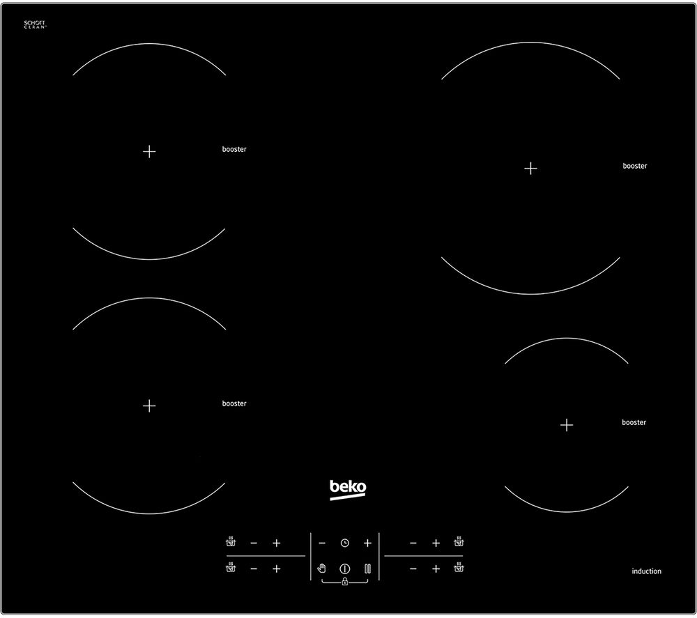 Image of BEKO HXI64200AT Electric Induction Hob - Black, Black