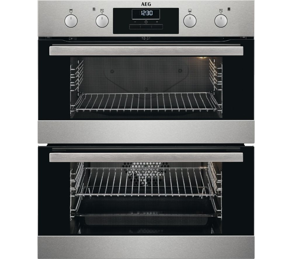 AEG SurroundCook DUS331110M Electric Built-under Double Oven - Stainless Steel