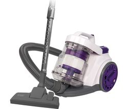 RUSSELL HOBBS RHCV3001 Cylinder Bagless Vacuum Cleaner - White & Purple