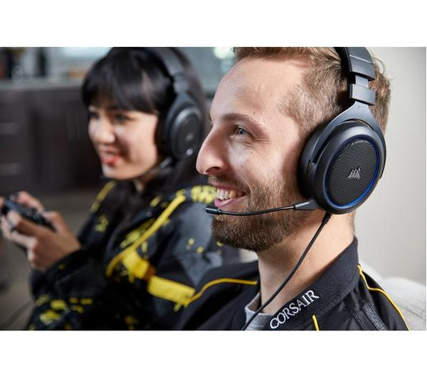Buy CORSAIR HS50 Gaming Headset - Black | Free Delivery
