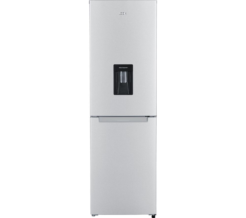 LOGIK LFFD55S18 50/50 Fridge Freezer - Silver