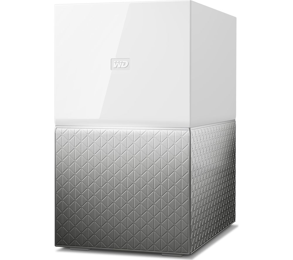 WD My Cloud Home Duo NAS Drive - 6 TB, White