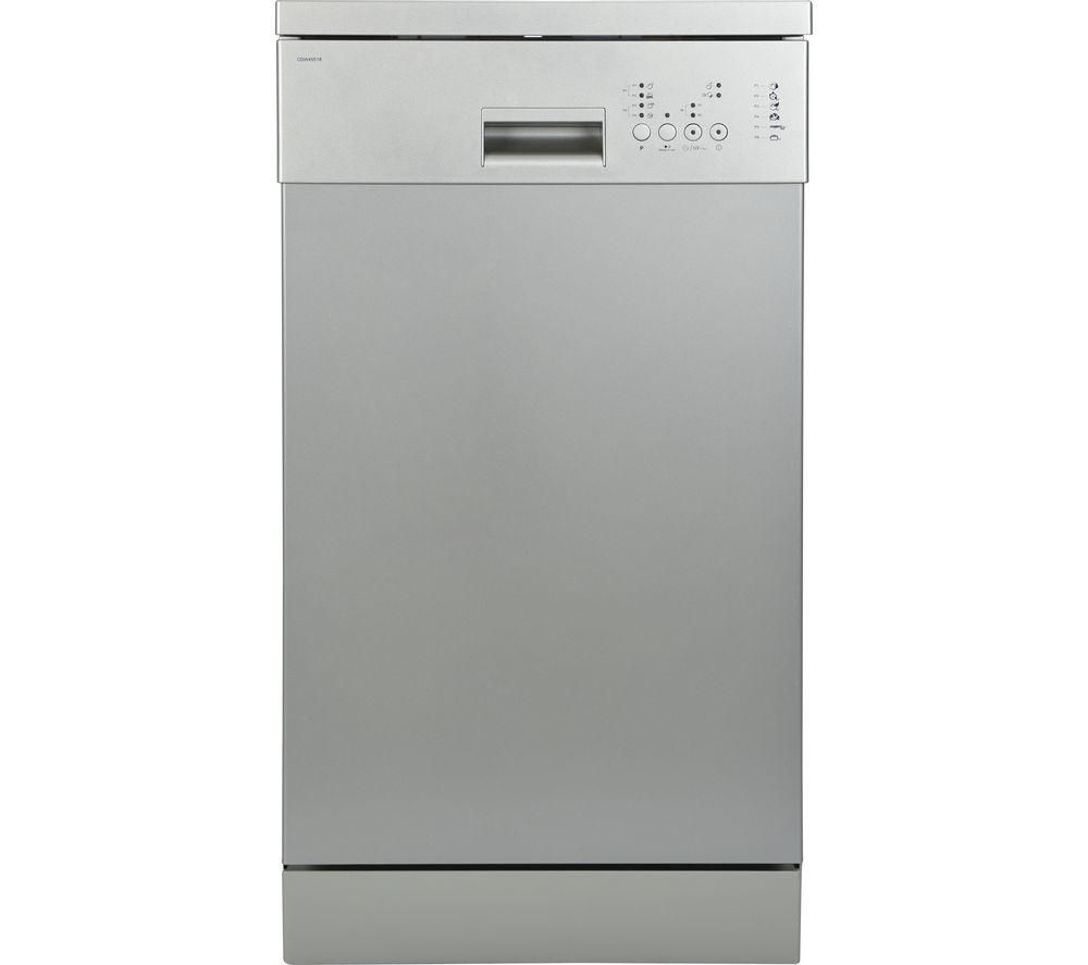 ESSENTIALS CDW45S18 Slimline Dishwasher - Silver