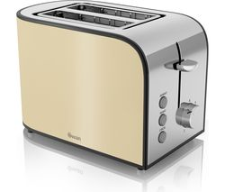 SWAN Townhouse ST17020CREN 2-Slice Toaster - Cream