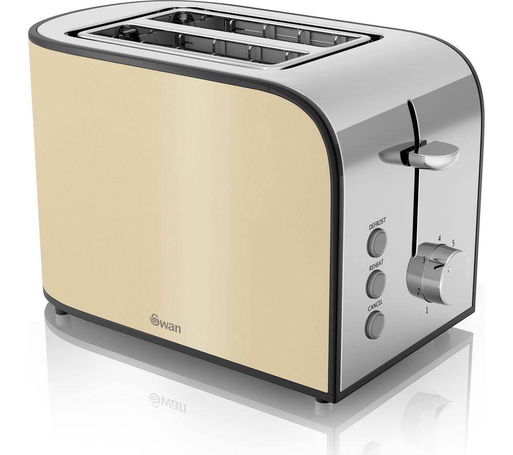 SWAN Townhouse ST17020CREN 2-Slice Toaster - Cream