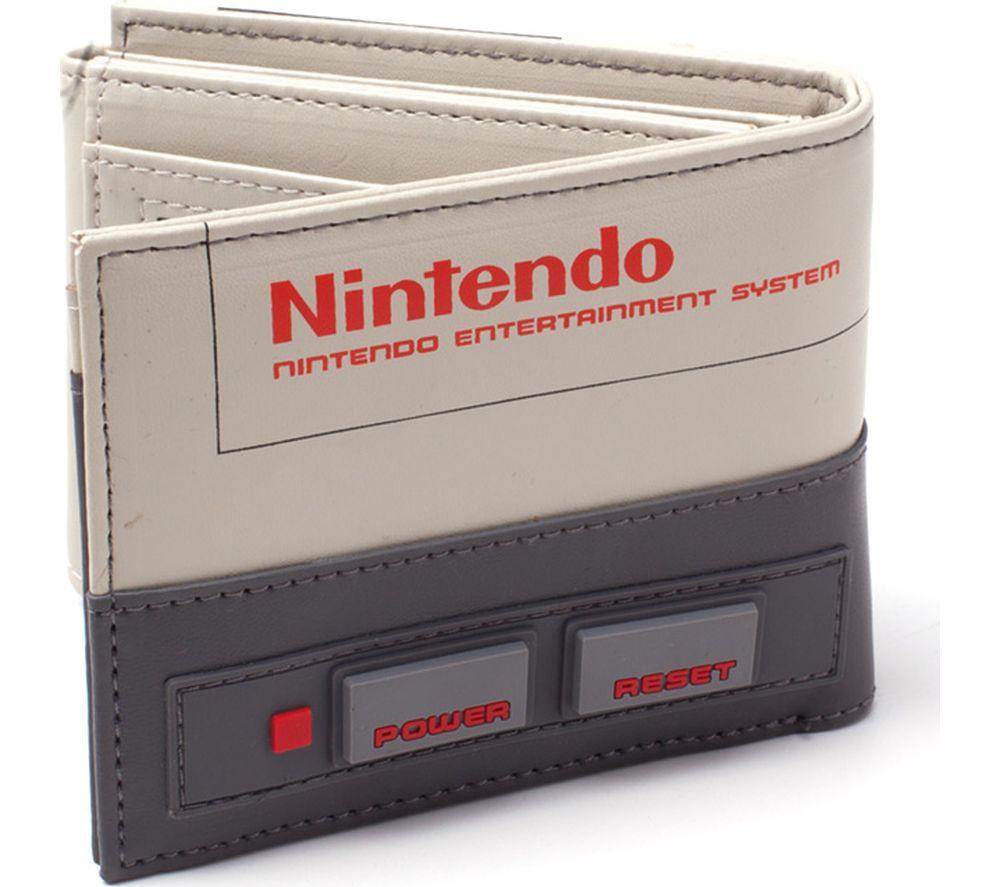 NINTENDO NES Console Bifold Wallet - Black & Beige