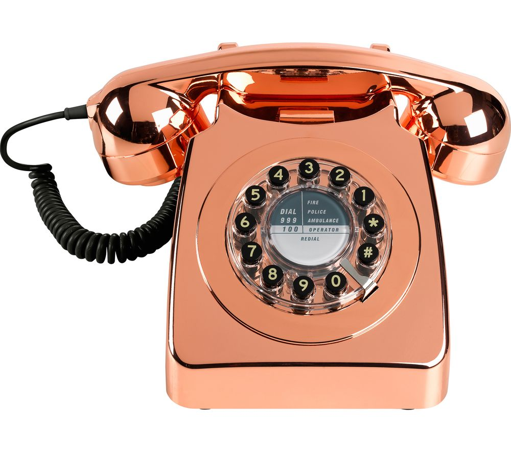 WILD & WOLF 746 Copper Corded Phone