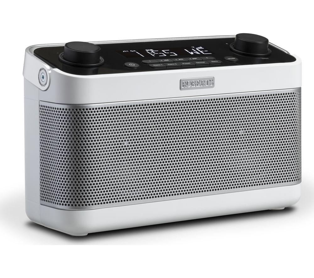 Image of ROBERTS Blutune 5 Portable DAB+/FM Bluetooth Radio - White, White