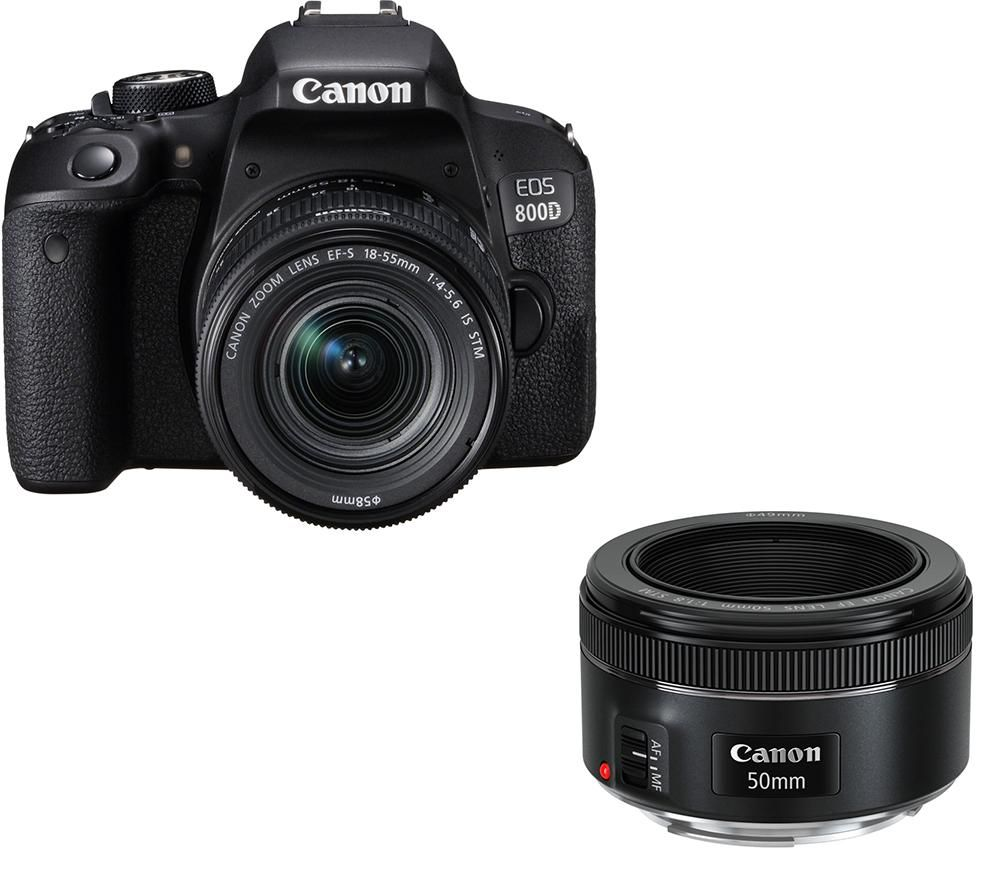 Click to view product details and reviews for Canon Eos 800d Dslr Camera Ef S 18 55 Mm F 4 56 Is Stm Lens Ef 50 Mm F 18 Stm Standard Prime Lens Bundle.