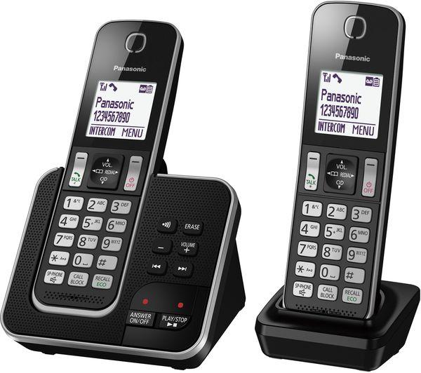 Buy Panasonic Kx Tgd622eb Cordless Phone Twin Handsets