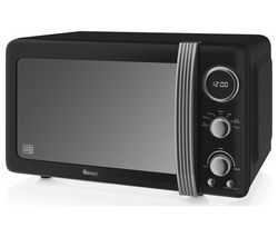 SWAN SM22030BN Solo Microwave - Black Best Price, Cheapest Prices