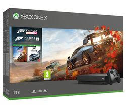 MICROSOFT Xbox One X with Forza Horizon 4 & Forza Motorsport 7