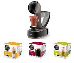 DOLCE GUSTO by De'Longhi Infinissima EDG260.G Coffee Machine & Pods Bundle - Macchiato, Americano & Cappuccino