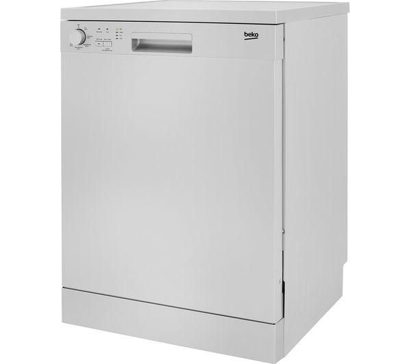 Image of BEKO DFN05310S Full-size Dishwasher - Silver