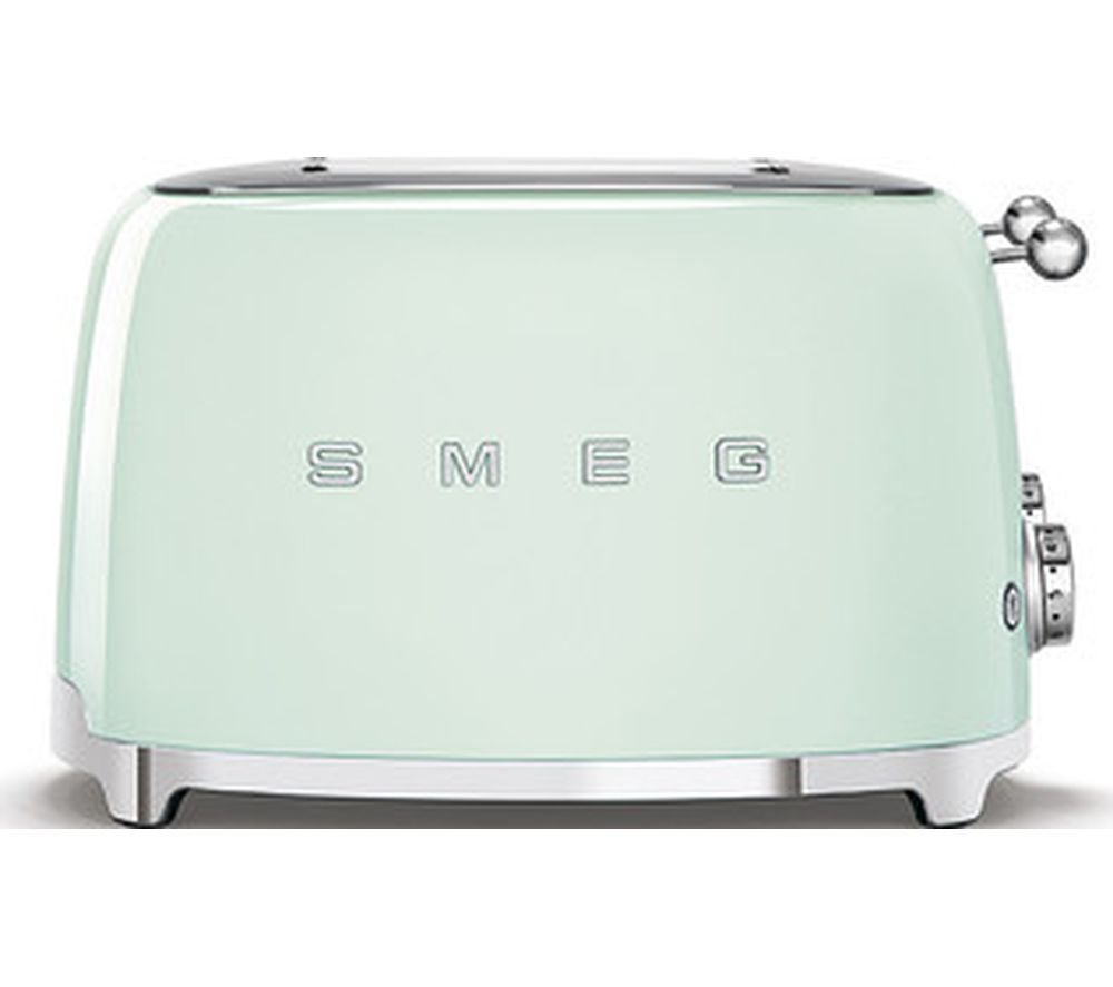 50s Retro Style TSF03PGUK 4-Slice Toaster - Green, Green