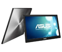 "ASUS MB168B 15.6"" LED Monitor - Black & Silver"
