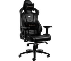 EPIC Real Leather Gaming Chair – Black
