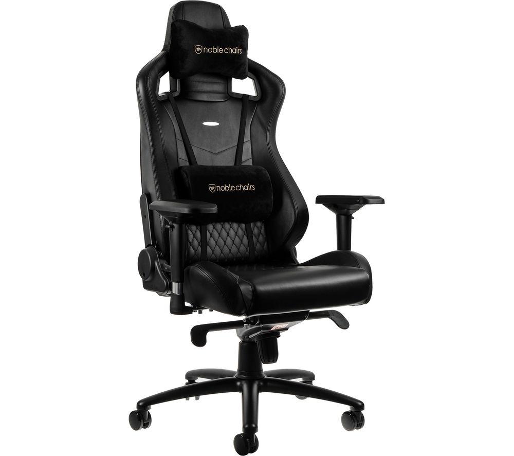 NOBLE CHAIRS EPIC Real Leather Gaming Chair – Black