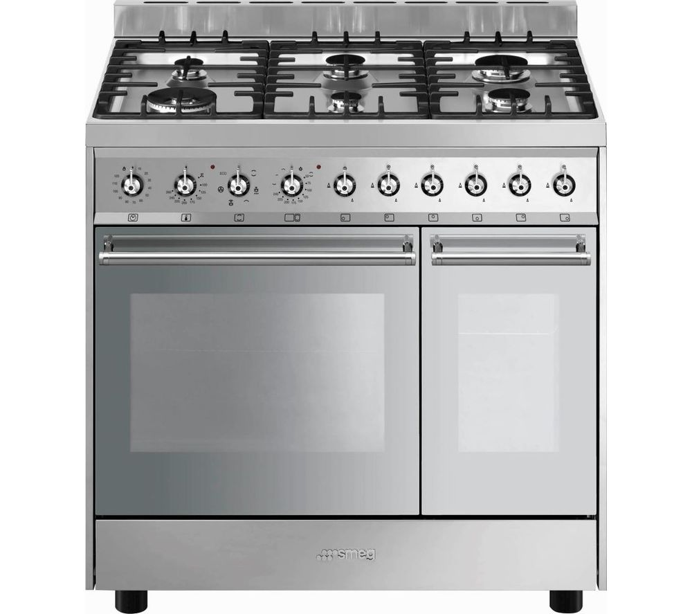 SMEG C92DX9 90 cm Dual Fuel Range Cooker - Stainless Steel