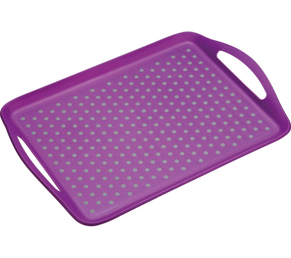 Anti-Slip Serving Tray - Purple