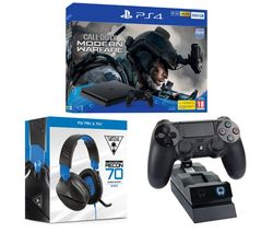 SONY PlayStation 4 with Call of Duty: Modern Warfare, Recon 70P 2.1 Gaming Headset & Twin Docking Station Bundle