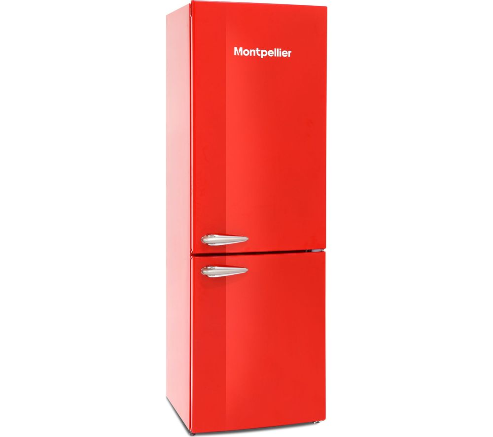 MONTPELLIER MAB385R 60/40 Fridge Freezer – Red, Red