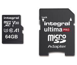 V30 Class 10 microSD Memory Card - 64 GB