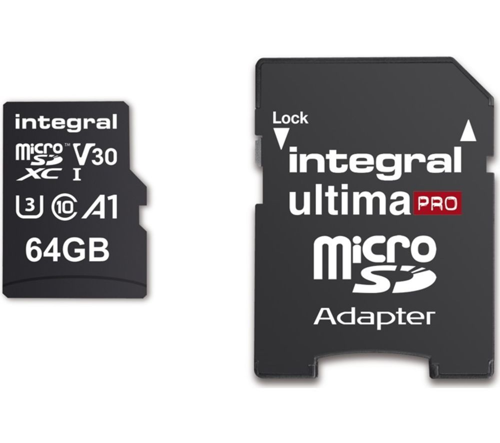 INTEGRAL V30 Class 10 microSD Memory Card - 64 GB