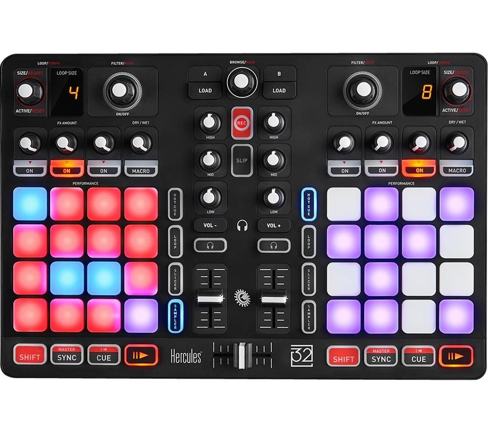 HERCULES P32 DJ Controller - Black