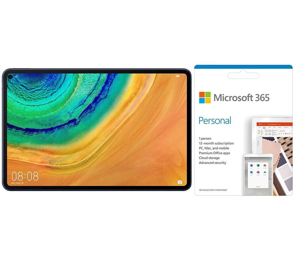 """Image of HUAWEI MatePad Pro 10.8"""" Tablet & Microsoft 365 Personal Bundle - 1 year for 1 user, Blue"""
