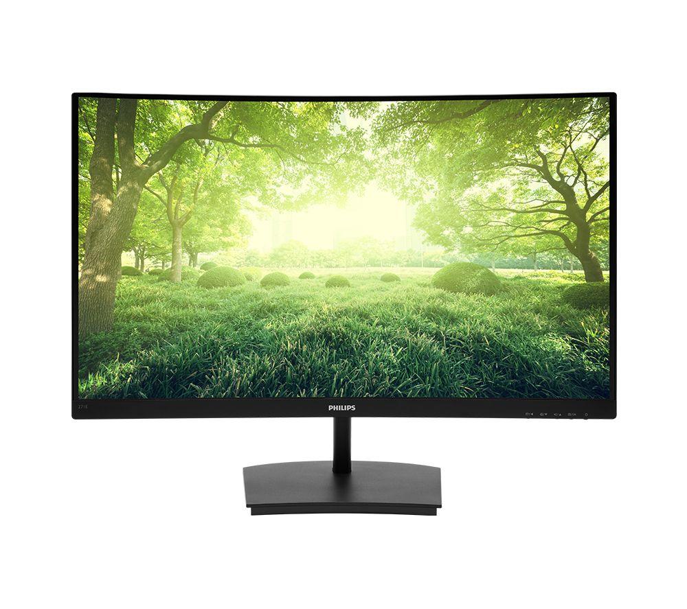 """PHILIPS 271E1SCA Full HD 27"""" Curved VA Monitor - Black"""